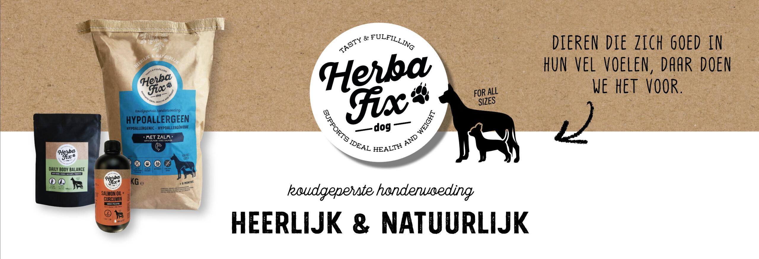 HerbaFix natuurlijke hondenvoeding